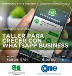 Nueva capacitación gratuita: Taller para crecer en Whatsapp Business